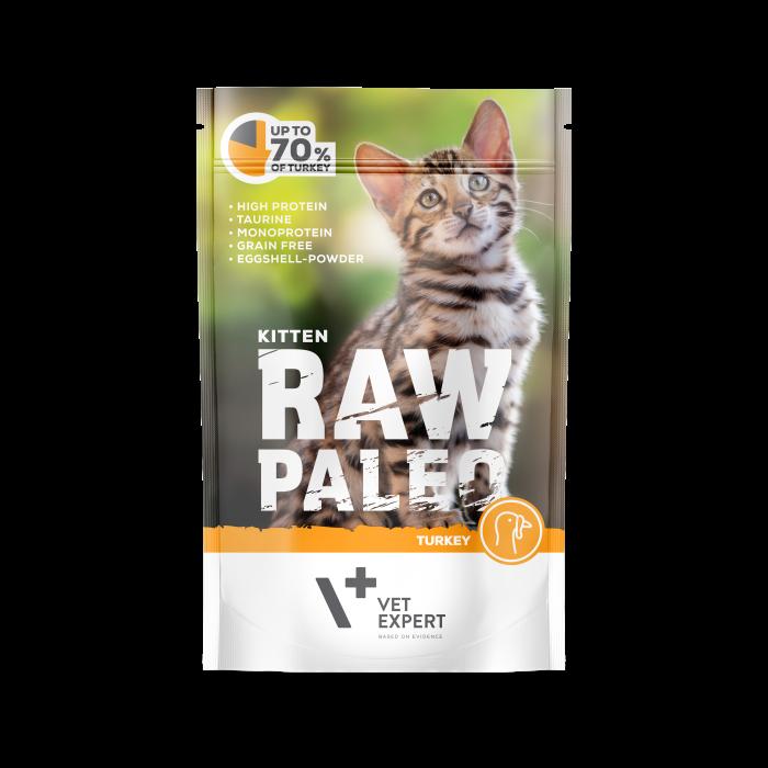 Hrana umeda pentru pisici, RAW PALEO KITTEN, carne de curcan, 100 g [0]