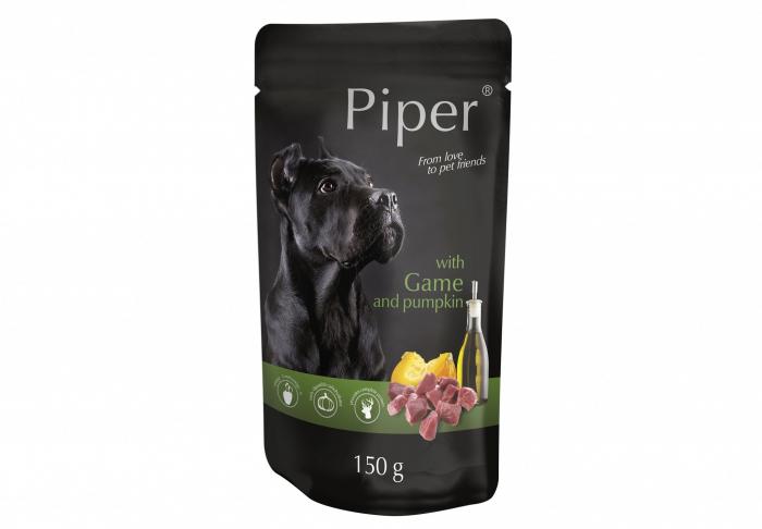 Hrana umeda Piper Adult, Vanat si Dovleac, PLIC, 150 g [0]