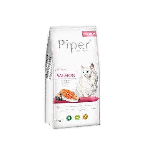 Hrana uscata pentru pisici sterilizate Piper Adult, carne de somon, 3kg [0]