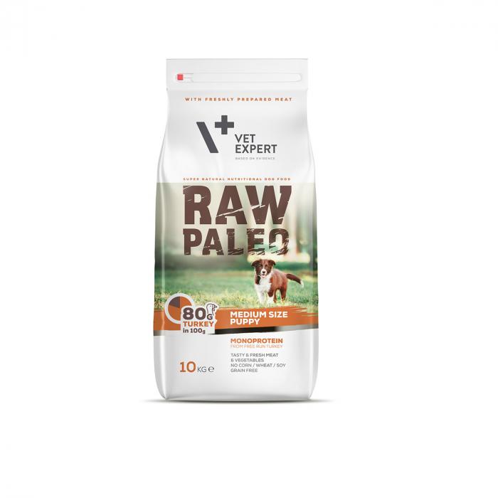 Hrana uscata, RAW PALEO, puppy, rase medii, 10 kg [0]