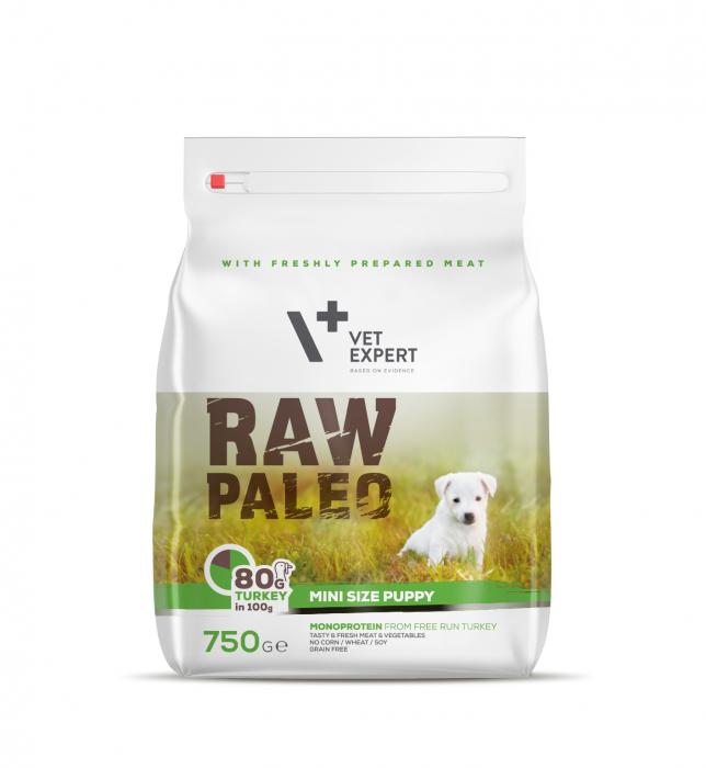 Hrana uscata, RAW PALEO, puppy, rase mici, 750g [0]