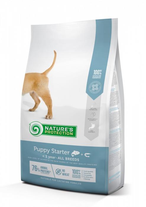 NATURE'S PROTECTION PUPPY STARTER, hrana uscata pentru juniori de toate rasele, 18 KG [0]