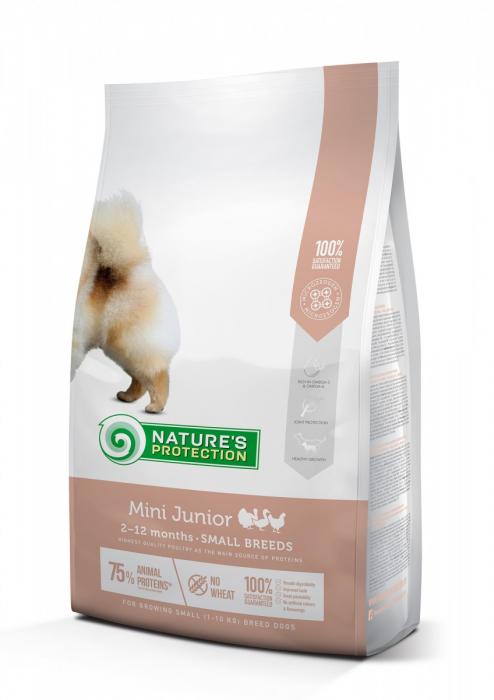 Natures Protection Dog Mini Junior, hrana uscata pentu juniori talie mica, 7.5kg [0]