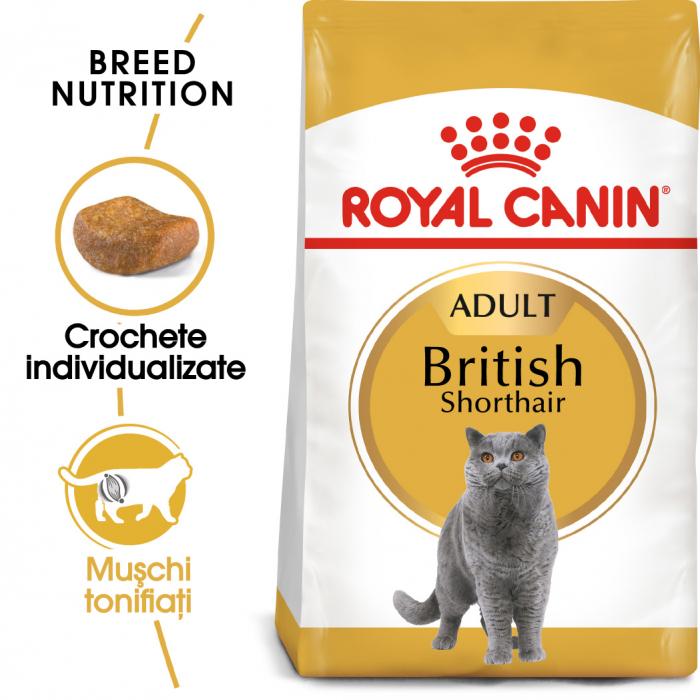 Royal Canin British Shorthair Adult, hrană uscată pisici, 400 g [0]