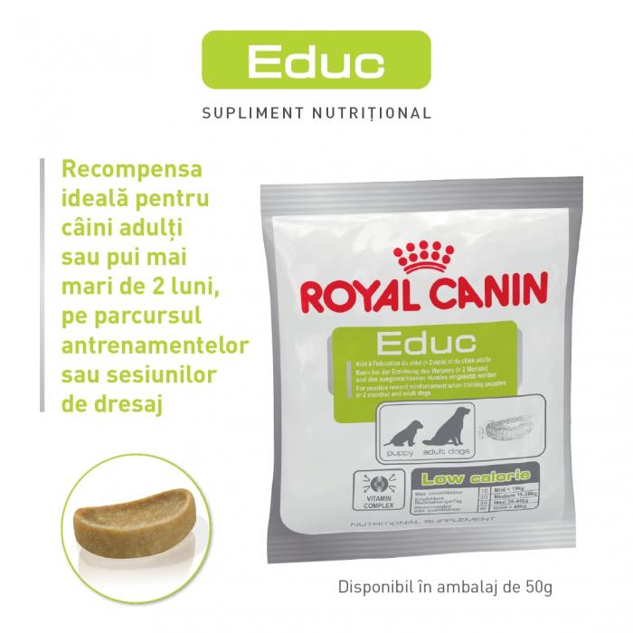 Royal Canin Educ, recompense hipocalorice câini, RECOMPENSE DRESAJ 50G [0]
