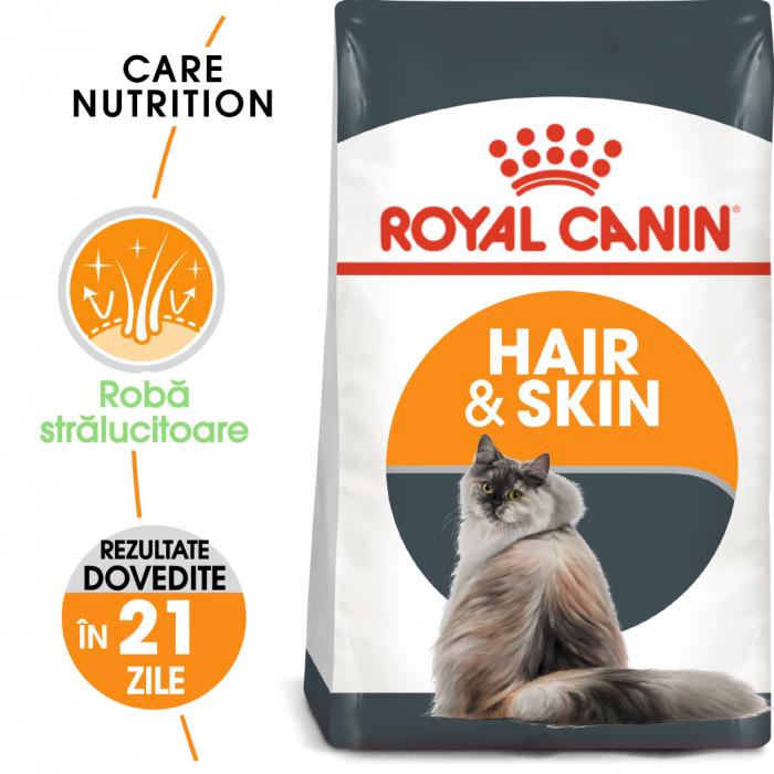 Royal Canin Hair & Skin Care Adult, hrană uscată pisici, piele și blană, 400 g [0]