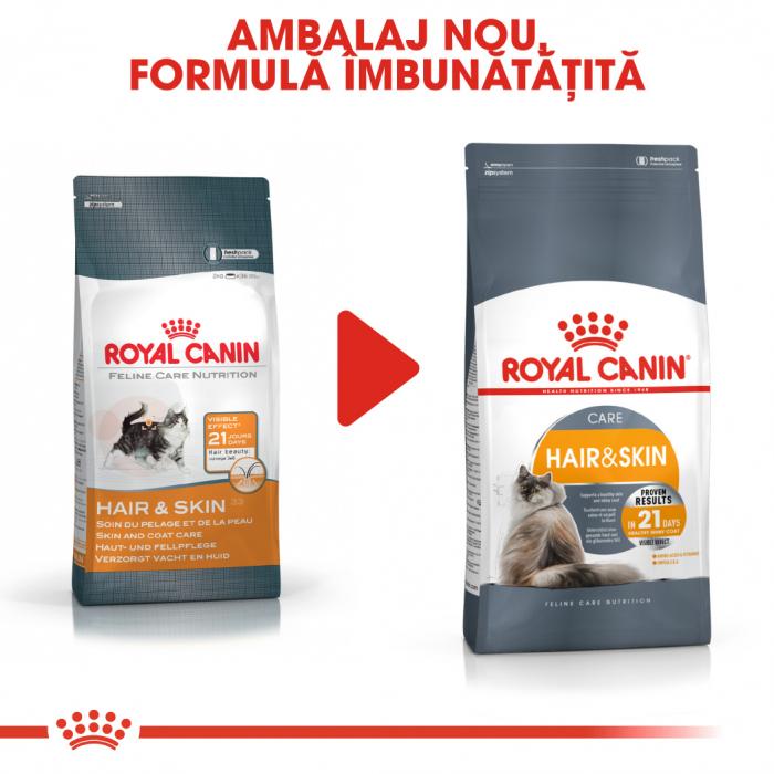 Royal Canin Hair & Skin Care Adult, hrană uscată pisici, piele și blană, 400 g [1]