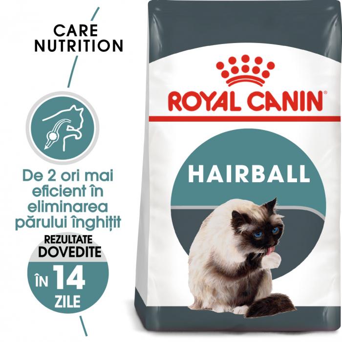 Royal Canin Hairball Care Adult, hrană uscată pisici, limitarea ghemurilor de blană 400 g [0]