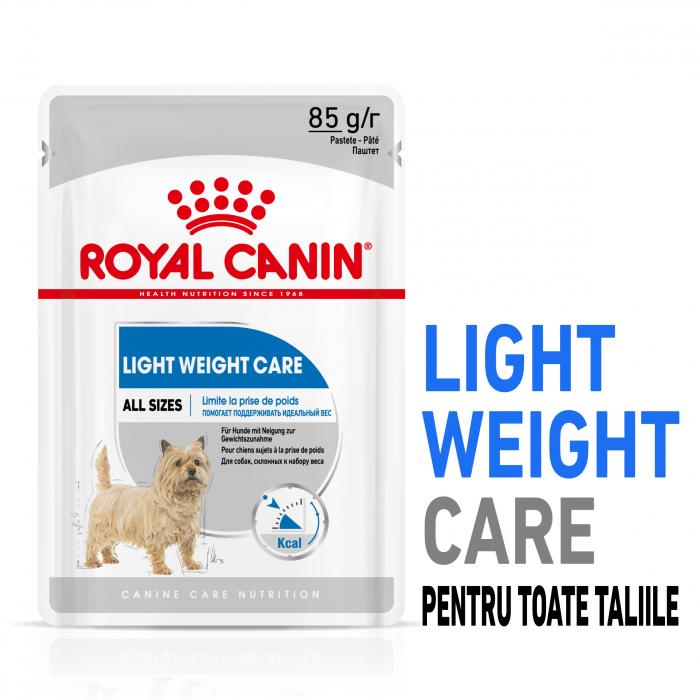 Royal Canin Light Weight Care Adult, bax hrană umedă câini, managementul greutății (pate), 12X85G [0]