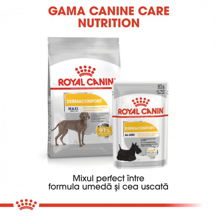 Royal Canin Maxi Dermacomfort, hrană uscată câini, prevenirea iritațiilor pielii, 3KG [5]