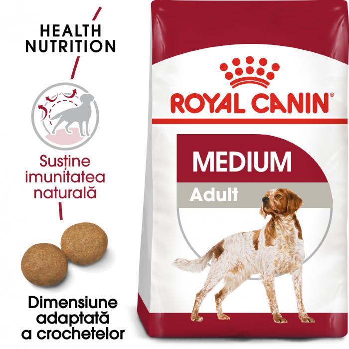 Royal Canin Medium Adult, hrană uscată câini,  15 kg [0]