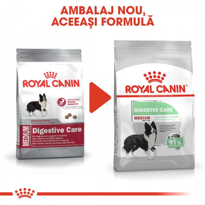 Royal Canin Medium Digestive Care, hrană uscată câini, confort digestiv, 3KG [1]