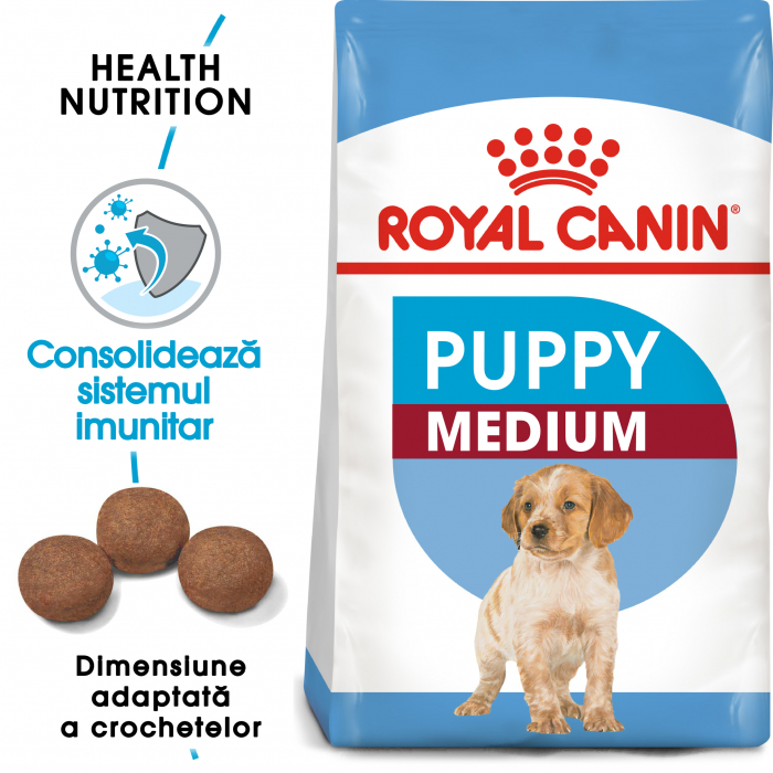 Royal Canin Medium Puppy, hrană uscată câini junior, 4 kg [0]