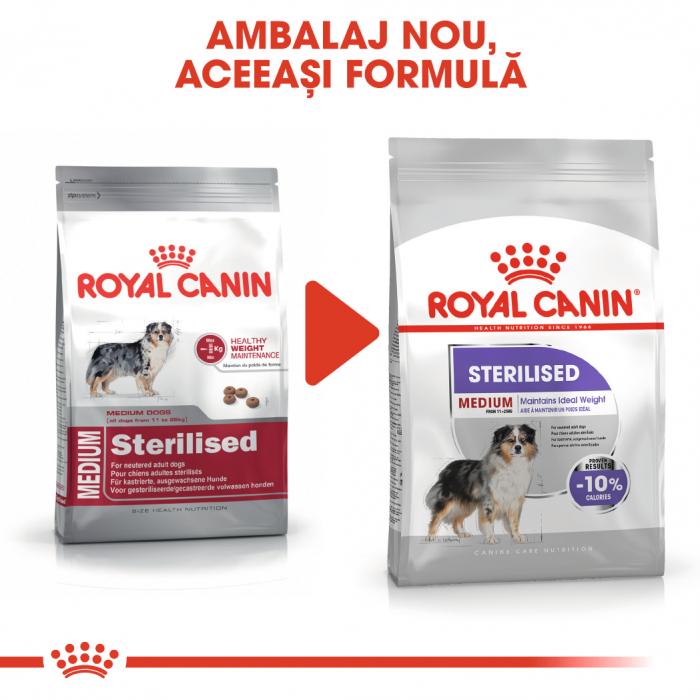 Royal Canin Medium Sterilised Adult, hrană uscată câini sterilizați, 10KG [1]