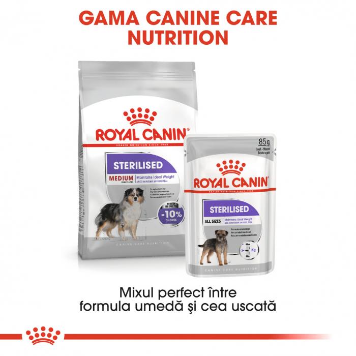 Royal Canin Medium Sterilised Adult, hrană uscată câini sterilizați, 3KG [5]