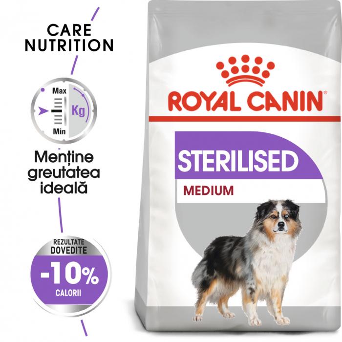 Royal Canin Medium Sterilised Adult, hrană uscată câini sterilizați, 3KG [0]