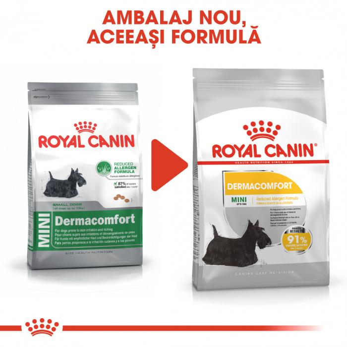 Royal Canin Mini Dermacomfort, hrană uscată câini, prevenirea iritațiilor pielii 1KG [1]
