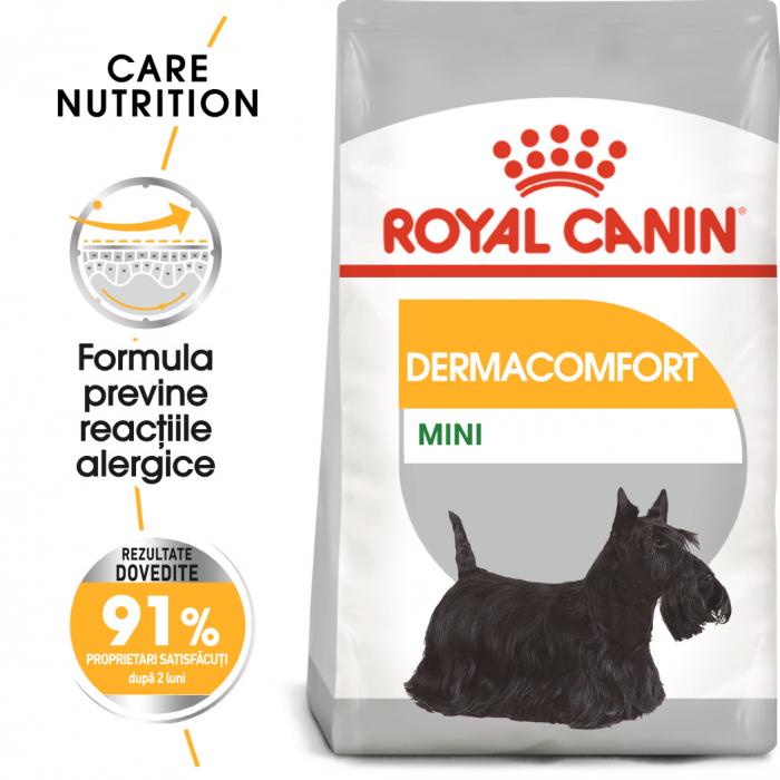 Royal Canin Mini Dermacomfort, hrană uscată câini, prevenirea iritațiilor pielii 3KG [0]
