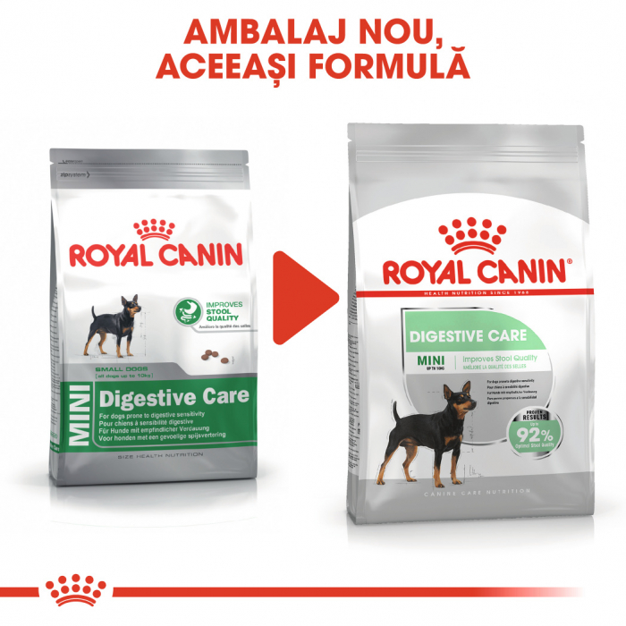Royal Canin Mini Digestive Care, hrană uscată câini, confort digestiv, 1KG [1]