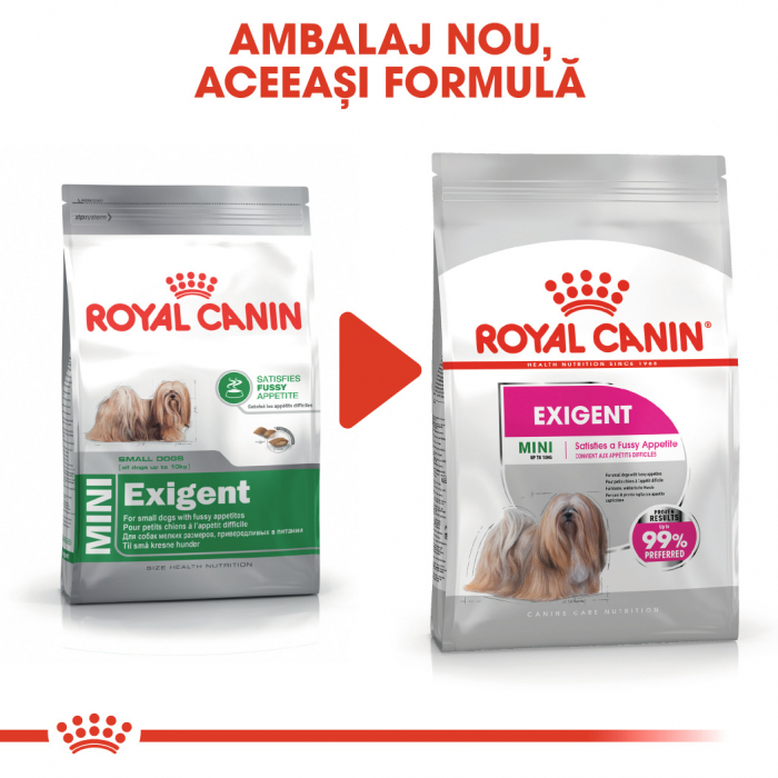 Royal Canin Mini Exigent, hrană uscată câini, apetit capricios, 3KG [1]