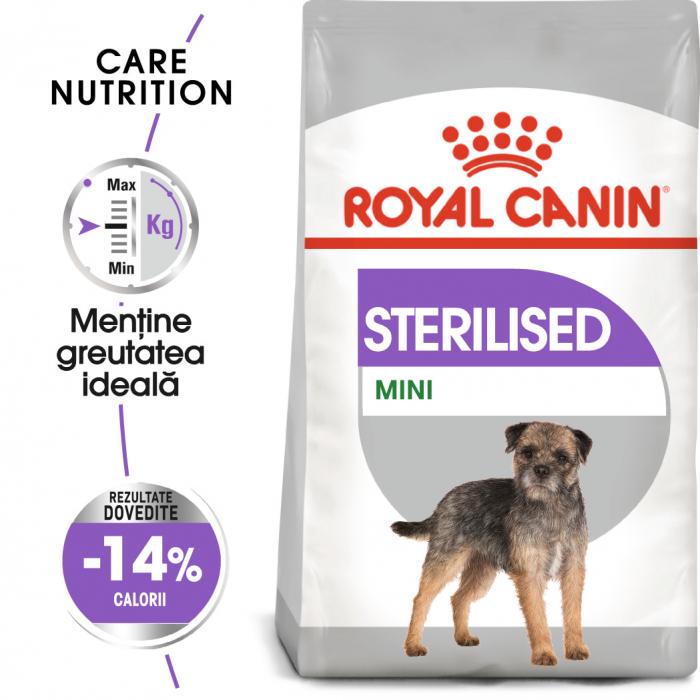 Royal Canin Mini Sterilised Adult, hrană uscată câini sterilizați, 8KG [0]