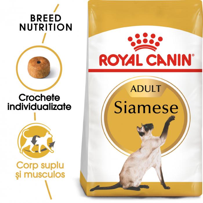 Royal Canin Siamese Adult, hrană uscată pisici 2 kg [0]