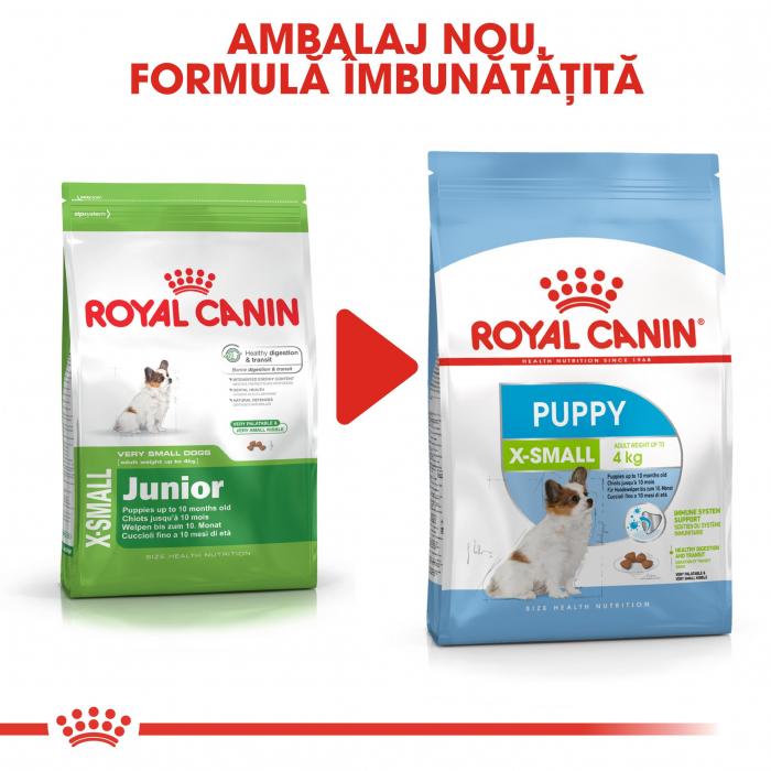 Royal Canin X-Small Puppy, hrană uscată câini junior, 500 g [4]