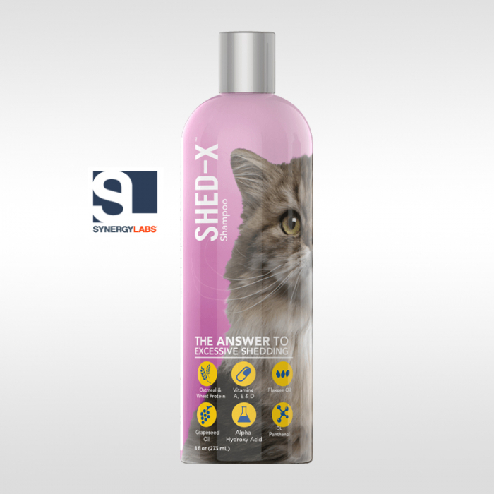 Sampon antinaparlire pentru pisici SHED-X, Synergy Labs, 237 ml [0]