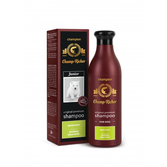 Sampon CHAMP RICHER pentru CATELUSI cu BLANA ALBA, 250 ml [0]