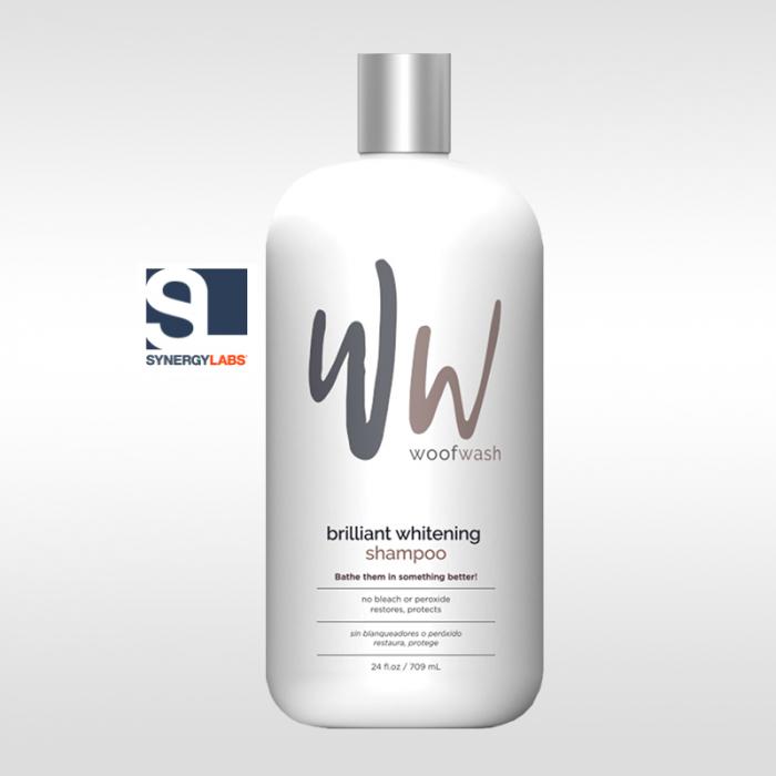 Sampon pentru blana alba Brilliant Whitening Woof Wash, Synergy Labs, 709 ml [0]