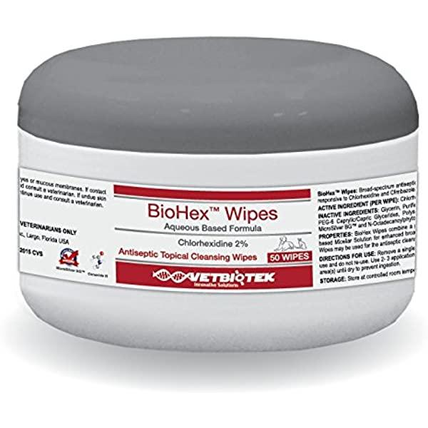 Servetele umede Clorhexidina 3%, VetBioTek BioHex, 50 buc [0]