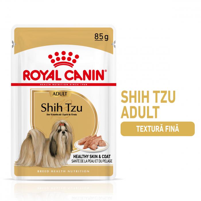 Royal Canin Shih Tzu Adult, plic hrană umedă câini, (pate),  12 x 85 g [0]
