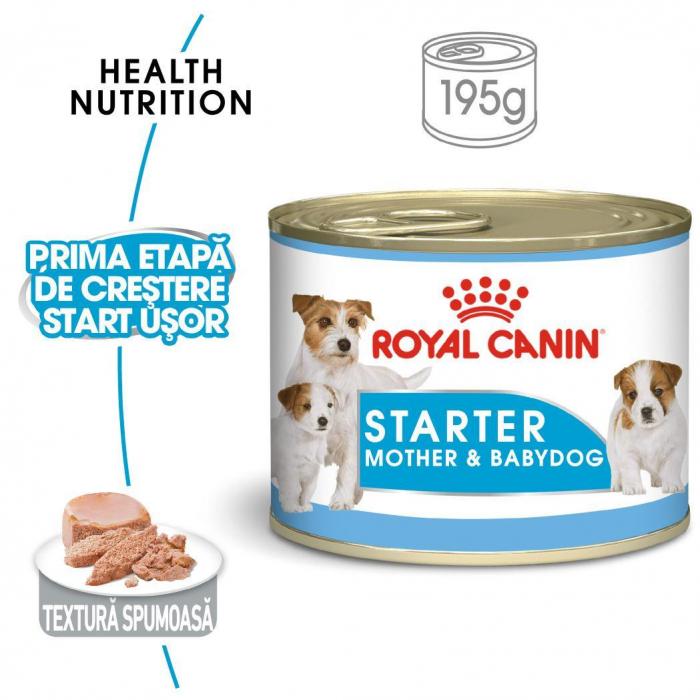 Royal Canin Starter, mama și puiul, conservă hrană umedă câini, (pate) 195 g [0]