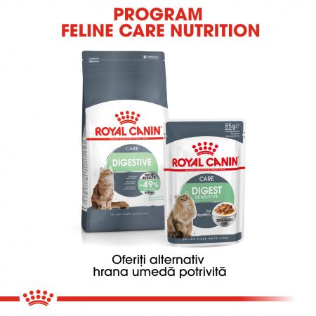 Royal Canin Digest Sensitive Care Adult, plic hrană umedă pisici, confort digestiv, (în sos), 12 x 85 g [4]