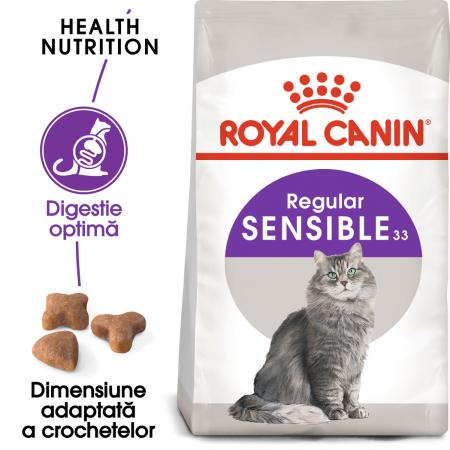 Royal Canin Sensible Adult, hrană uscată pisici, digestie optimă,  400 g [0]