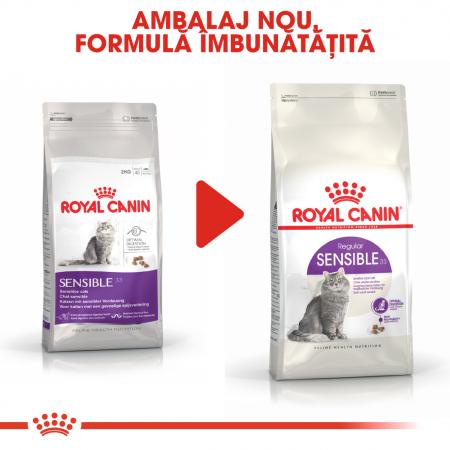 Royal Canin Sensible Adult, hrană uscată pisici, digestie optimă,  400 g [3]