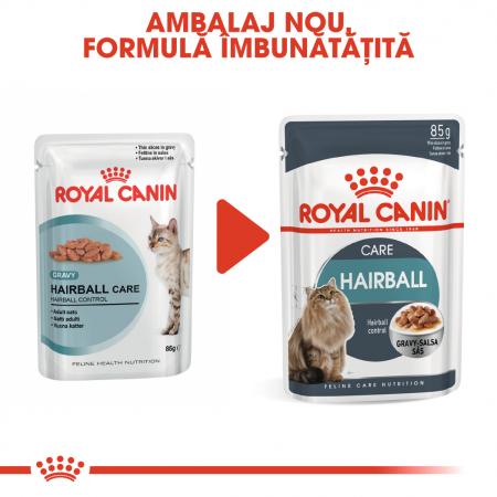 Royal Canin Hairball Care Adult, plic hrană umedă pisici, limitarea ghemurilor de blană, (în sos), 12 x 85 g [1]