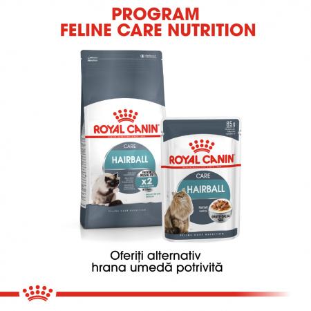 Royal Canin Hairball Care Adult, plic hrană umedă pisici, limitarea ghemurilor de blană, (în sos), 12 x 85 g [4]