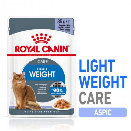 Royal Canin Light Weight Care Adult, plic hrană umedă pisici, managementul greutății, (în aspic)12 x 85 g [0]