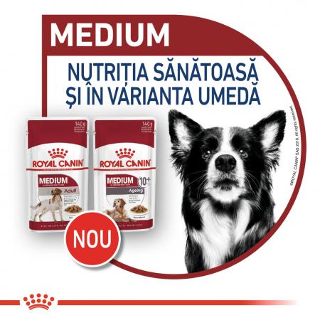 Royal Canin Medium Adult, bax hrană umedă câini, (în sos) 10 x 140 g [7]