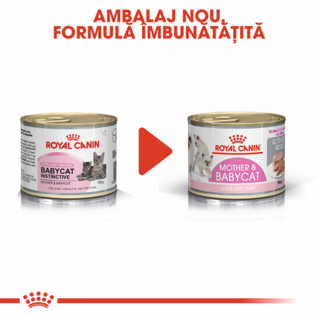 ROYAL CANIN MOTHER & BABYCAT CAN MOUSSE 195 g [5]