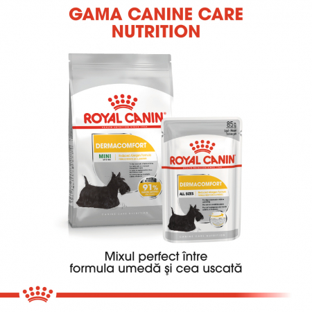 Royal Canin Dermacomfort Adult, bax hrană umedă câini, prevenirea iritațiilor pielii (pate), 12X85G [4]