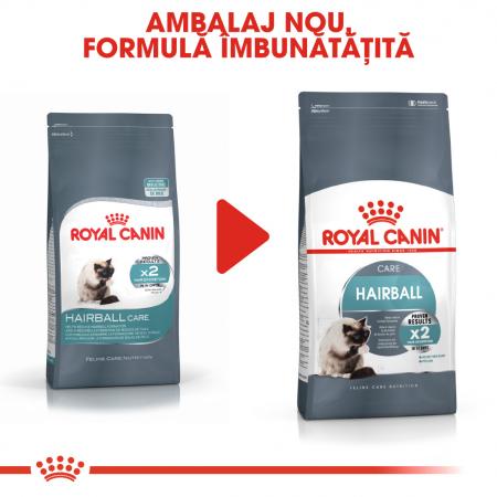 Royal Canin Hairball Care Adult, hrană uscată pisici, limitarea ghemurilor de blană 400 g [1]