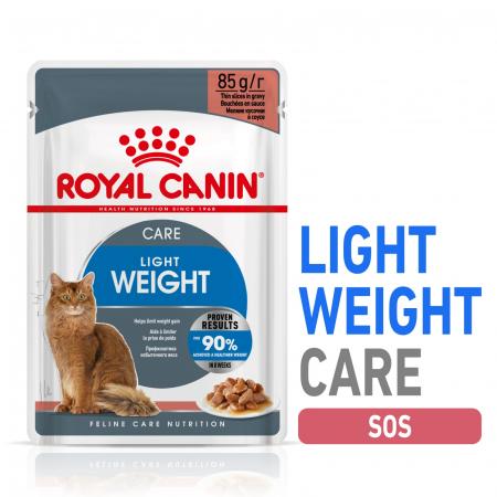 Royal Canin Light Weight Care Adult, plic hrană umedă pisici, managementul greutății, (în sos), 12 x 85G [0]
