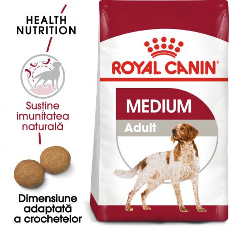 Royal Canin Medium Adult, hrană uscată câini,  4 kg [0]