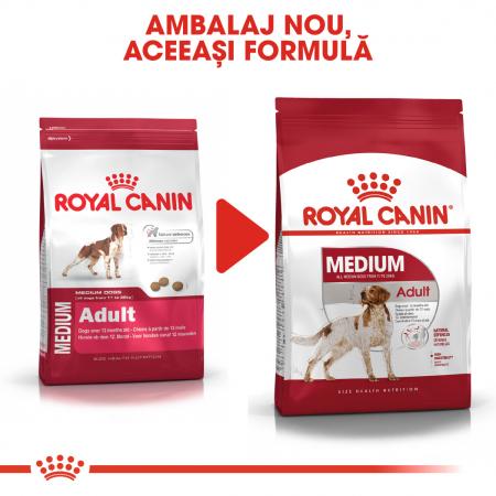 Royal Canin Medium Adult, hrană uscată câini,  4 kg [5]