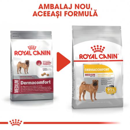 Royal Canin Medium Dermacomfort, hrană uscată câini, prevenirea iritațiilor pielii, 3KG [1]