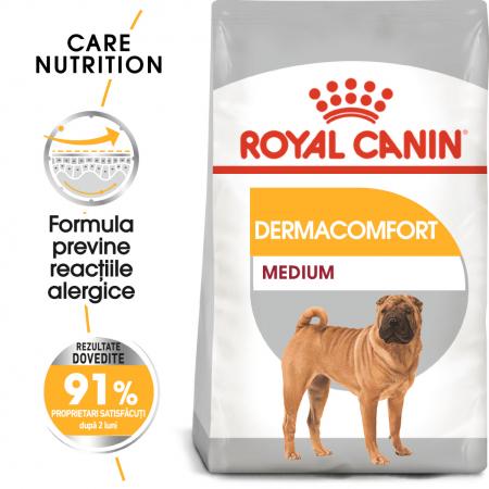 Royal Canin Medium Dermacomfort, hrană uscată câini, prevenirea iritațiilor pielii, 3KG [0]