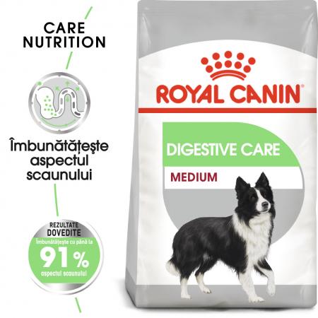 Royal Canin Medium Digestive Care, hrană uscată câini, confort digestiv, 3KG [0]