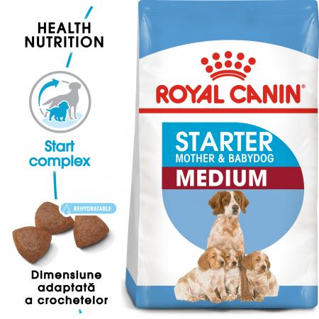 Royal Canin Medium Starter Mother & BabyDog, mama și puiul,  hrană uscată câini,12 kg [0]